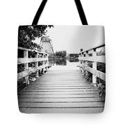 Pier At Kinderdjik Tote Bag by Ivy Ho