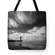 Pier End Tote Bag by Dave Bowman