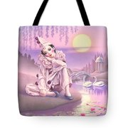 Pierrot & Swans Tote Bag by Andrew Farley