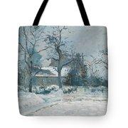 Piettes House At Montfoucault Tote Bag by Camille Pissarro