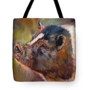 Pig Tote Bag by David Stribbling