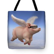 Pigs Fly 1 Tote Bag by Mike McGlothlen
