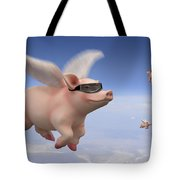 Pigs Fly Tote Bag by Mike McGlothlen