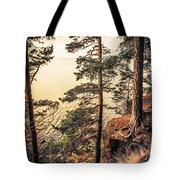 Pine Trees Of Holy Island Tote Bag by Jenny Rainbow