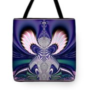 Pink And Blue Guardian Angel Fractal 99 Tote Bag by Rose Santuci-Sofranko