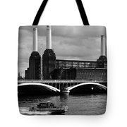 Pink Floyd's Pig At Battersea Tote Bag by Dawn OConnor