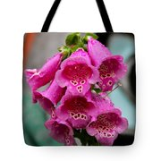 Pink Foxglove Tote Bag by Karon Melillo DeVega