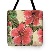 Pink Hibiscus Tote Bag by Debbie DeWitt