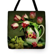Pink In A Pitcher Tote Bag by Diana Angstadt