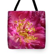 Pink Peony Flower Macro Tote Bag by Jennie Marie Schell