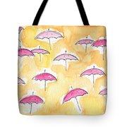 Pink Umbrellas Tote Bag by Linda Woods
