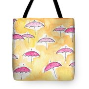 Pink Umbrellas Tote Bag by Linda Woods