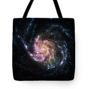 Pinwheel Galaxy Rainbow Tote Bag by Adam Romanowicz