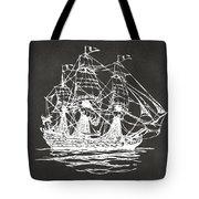 Pirate Ship Artwork - Gray Tote Bag by Nikki Marie Smith