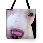 Pit Bull Art - Not A Fighter Tote Bag by Sharon Cummings