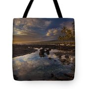 Place Of Refuge Sunset Reflection Tote Bag by Mike Reid