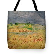 Plain At Auvers Tote Bag by Vincent Van Gogh