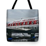 Plane Obsolete Capital Airlines Tote Bag by Paul Ward