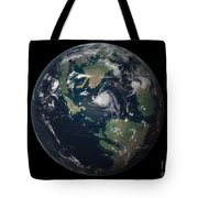 Planet Earth 90 Million Years Ago Tote Bag by Walter Myers