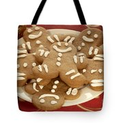 Plateful Of Gingerbread Cookies Tote Bag by Juli Scalzi