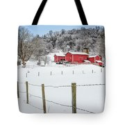 Platt Farm Square Tote Bag by Bill Wakeley