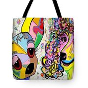 Playful Pups Tote Bag by Eloise Schneider
