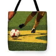 Plays On The Ball Tote Bag by Laddie Halupa