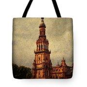 Plaza de Espana 2. Seville Tote Bag by Jenny Rainbow