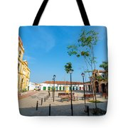 Plaza in Mompox Tote Bag by Jess Kraft