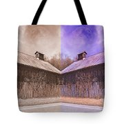 Pleasant View Country Barns Tote Bag by Betsy C Knapp