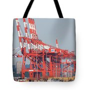 PNCT Facility in Port Newark-Elizabeth Marine Terminal I Tote Bag by Clarence Holmes