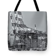 Pnct Facility In Port Newark-elizabeth Marine Terminal II Tote Bag by Clarence Holmes