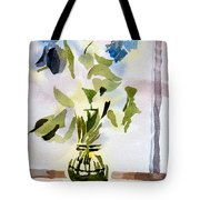Poetry In The Window Tote Bag by Kip DeVore