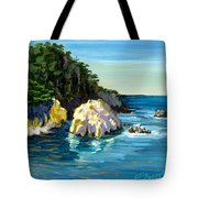 Point Lobos Rock Tote Bag by Alice Leggett