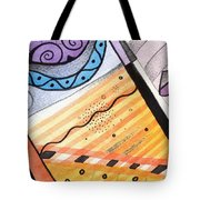 Points Lines And Circles Tote Bag by Helena Tiainen