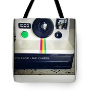 Polaroid Camera.  Tote Bag by Les Cunliffe