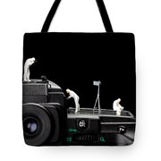 Police Investigate On A Camera Tote Bag by Paul Ge