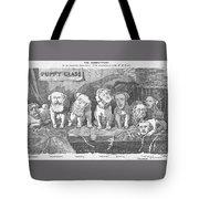 Political Puppy Class Tote Bag by Konni Jensen