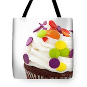 Polka Dot Cupcake Tote Bag by Andee Design
