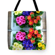 Polyanthus Primroses Tote Bag by Will Borden