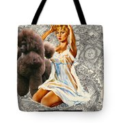 Poodle Art - Una Parisienne Movie Poster Tote Bag by Sandra Sij