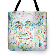 Pope Francis Watercolor Portrait Tote Bag by Fabrizio Cassetta