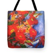 Poppies Gone Wild Tote Bag by Sherry Harradence