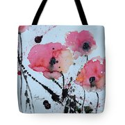 Poppies- Painting Tote Bag by Ismeta Gruenwald