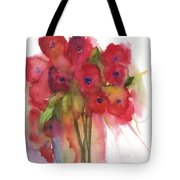 Poppies Tote Bag by Sherry Harradence