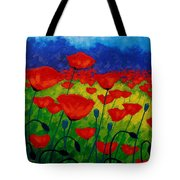 Poppy Corner II Tote Bag by John  Nolan