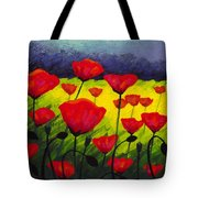 Poppy Corner IIi Tote Bag by John  Nolan