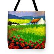 Poppy Field - Ireland Tote Bag by John  Nolan