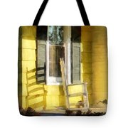 Porch - Long Afternoon Shadow Of Rocking Chair Tote Bag by Susan Savad