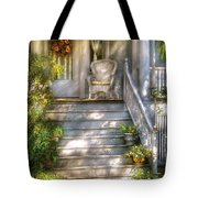 Porch - Westfield Nj - Grannies Porch  Tote Bag by Mike Savad